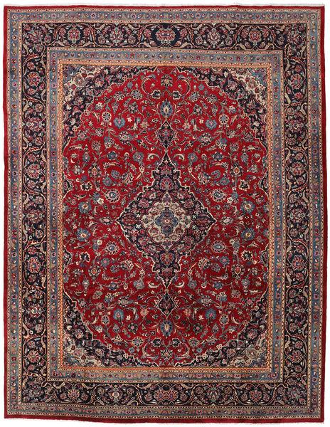Mashhad Covor 296X383 Orientale Lucrat Manual Roșu-Închis/Gri Închis Mare (Lână, Persia/Iran)
