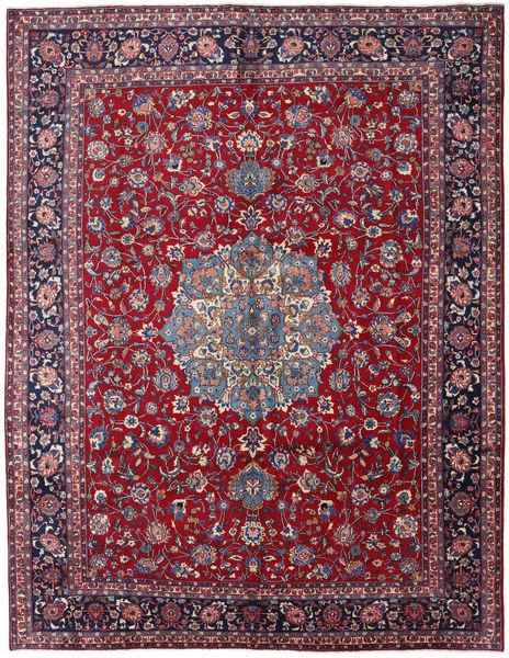 Mashhad Covor 297X381 Orientale Lucrat Manual Roșu-Închis/Mov Închis Mare (Lână, Persia/Iran)