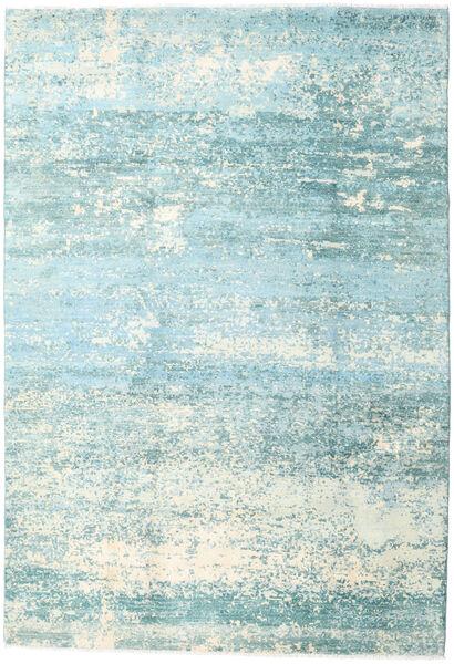 Damask Collection Covor 193X282 Modern Lucrat Manual Albastru Turcoaz/Albastru Deschis ( India)