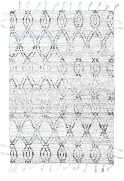 Pet Yarn Chilim Covor 164X240 Modern Lucrate De Mână Gri Deschis/Bej-Crem ( India)