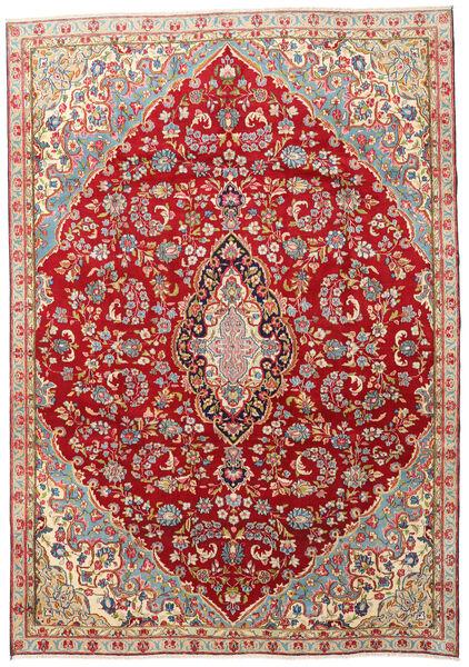Kerman Covor 210X300 Orientale Lucrat Manual Roșu-Închis/Ruginiu (Lână, Persia/Iran)