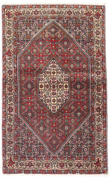 Bidjar Covor 90X143 Orientale Lucrat Manual Roșu-Închis/Maro Închis (Lână, Persia/Iran)