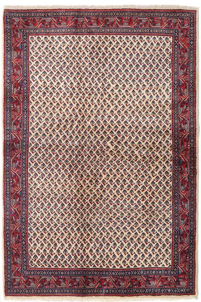 Sarouk Mir Covor 129X194 Orientale Lucrat Manual Mov Închis/Bej (Lână, Persia/Iran)