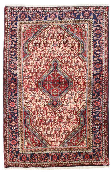 Sarouk Covor 111X165 Orientale Lucrat Manual Roșu-Închis/Ruginiu (Lână, Persia/Iran)