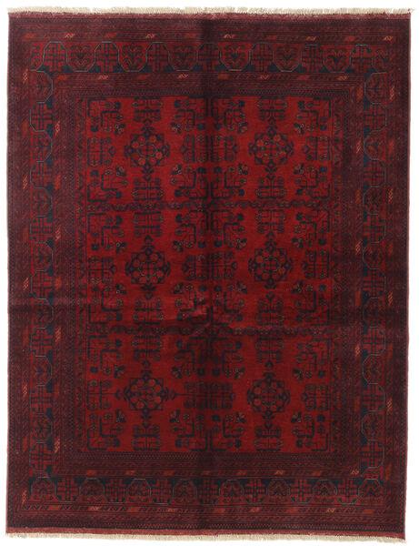 Afghan Khal Mohammadi Covor 152X194 Orientale Lucrat Manual Roșu-Închis/Maro Închis (Lână, Afganistan)