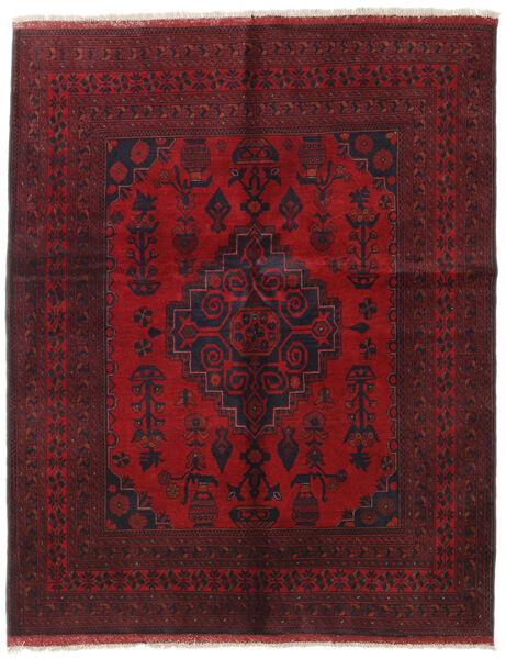 Afghan Khal Mohammadi Covor 155X194 Orientale Lucrat Manual Roșu-Închis/Roşu (Lână, Afganistan)