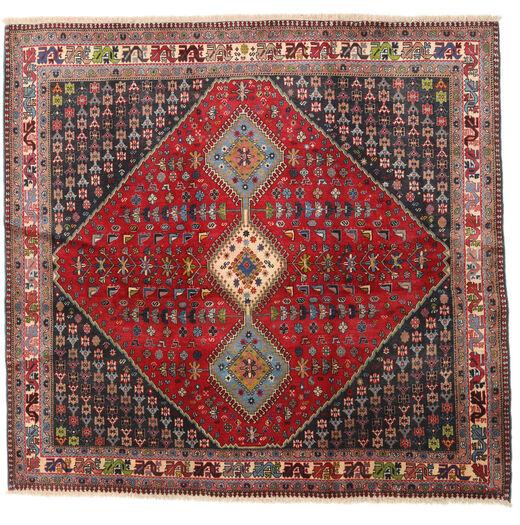 Yalameh Covor 192X200 Orientale Lucrat Manual Pătrat Roșu-Închis/Maro Închis (Lână, Persia/Iran)
