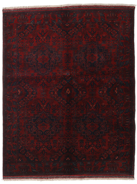 Afghan Khal Mohammadi Covor 155X192 Orientale Lucrat Manual Roșu-Închis (Lână, Afganistan)