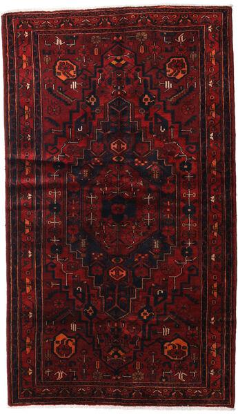 Hamadan Covor 143X248 Orientale Lucrat Manual Roșu-Închis (Lână, Persia/Iran)