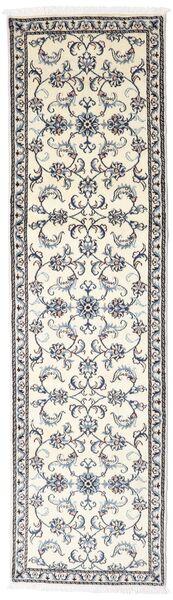Nain Covor 78X288 Orientale Lucrat Manual Gri Deschis/Bej/Bej-Crem (Lână, Persia/Iran)