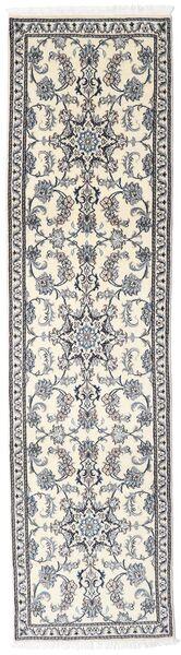Nain Covor 74X290 Orientale Lucrat Manual Gri Deschis/Bej/Gri Închis (Lână, Persia/Iran)