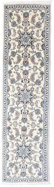 Nain Covor 77X286 Orientale Lucrat Manual Gri Deschis/Bej (Lână, Persia/Iran)