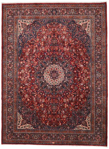 Mashhad Covor 306X410 Orientale Lucrat Manual Roșu-Închis/Maro Închis Mare (Lână, Persia/Iran)