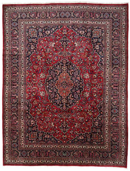 Mashhad Covor 309X373 Orientale Lucrat Manual Roșu-Închis/Maro Închis Mare (Lână, Persia/Iran)