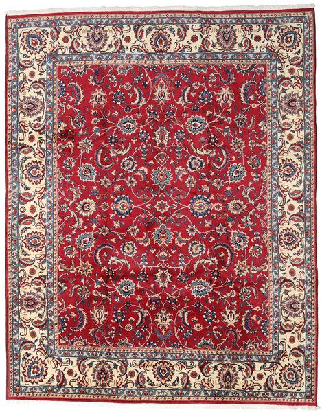 Mashhad Covor 300X380 Orientale Lucrat Manual Roșu-Închis/Bej Mare (Lână, Persia/Iran)