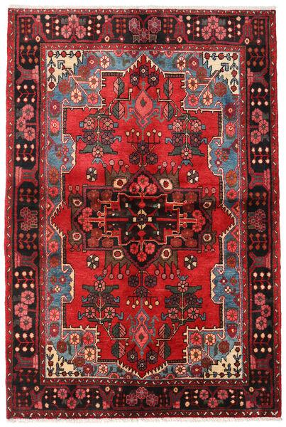 Nahavand Covor 133X205 Orientale Lucrat Manual Maro Închis/Roșu-Închis (Lână, Persia/Iran)