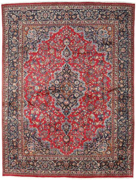 Mashhad Covor 299X386 Orientale Lucrat Manual Roșu-Închis/Gri Închis Mare (Lână, Persia/Iran)