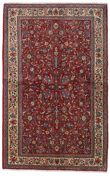 Sarouk Sherkat Farsh Covor 135X212 Orientale Lucrat Manual Roșu-Închis/Gri Închis (Lână, Persia/Iran)