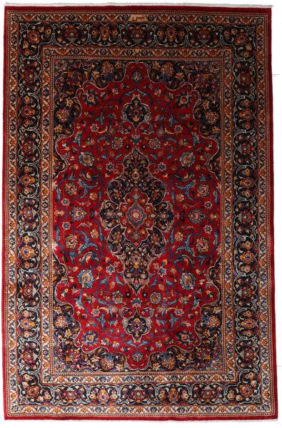 Mashhad Covor 197X300 Orientale Lucrat Manual Roșu-Închis (Lână, Persia/Iran)