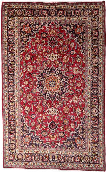 Mashhad Covor 195X310 Orientale Lucrat Manual Roșu-Închis/Maro Închis (Lână, Persia/Iran)