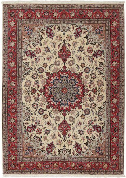 Tabriz 50 Raj Covor 155X211 Orientale Lucrat Manual Gri Deschis/Roșu-Închis (Lână/Mătase, Persia/Iran)