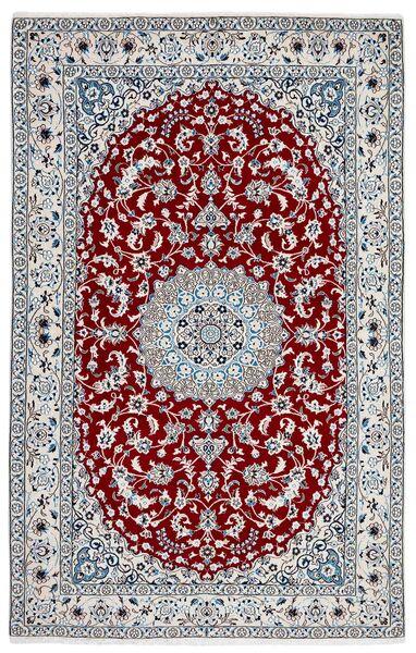Nain 9La Covor 156X245 Orientale Lucrat Manual Gri Închis/Bej-Crem (Lână/Mătase, Persia/Iran)