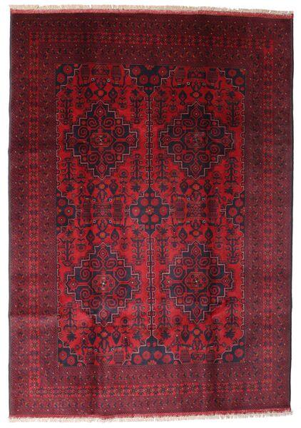 Afghan Khal Mohammadi Covor 203X287 Orientale Lucrat Manual Roșu-Închis/Roşu (Lână, Afganistan)