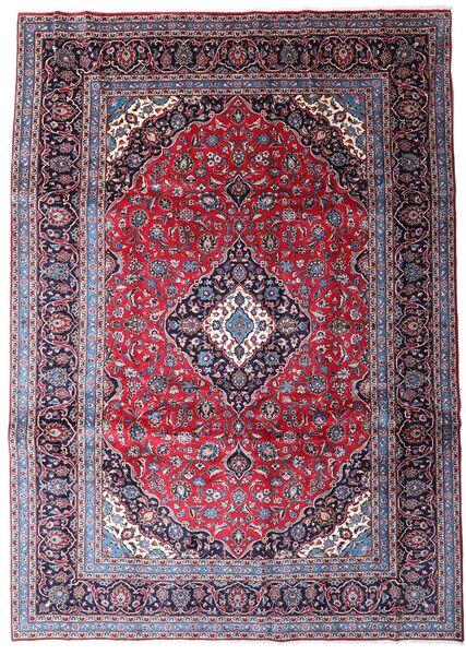 Kashan Covor 247X344 Orientale Lucrat Manual Mov Închis/Roşu Închis (Lână, Persia/Iran)