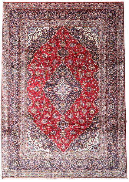 Kashan Covor 248X348 Orientale Lucrat Manual Roşu Închis/Roz Deschis (Lână, Persia/Iran)