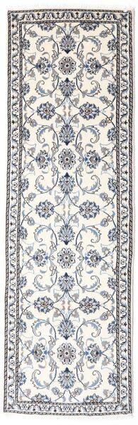 Nain Covor 78X248 Orientale Lucrat Manual Bej-Crem/Gri Deschis (Lână, Persia/Iran)