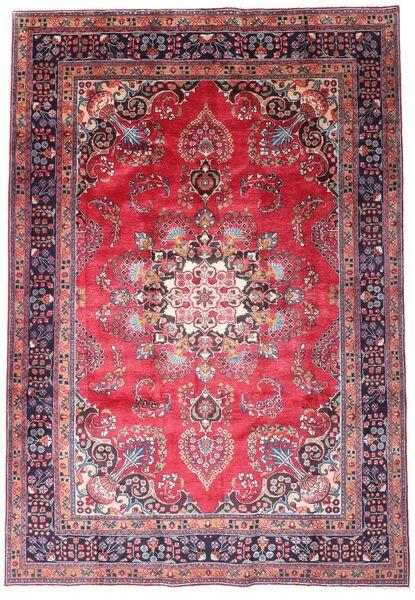Mashhad Covor 203X290 Orientale Lucrat Manual Mov Închis/Roz (Lână, Persia/Iran)