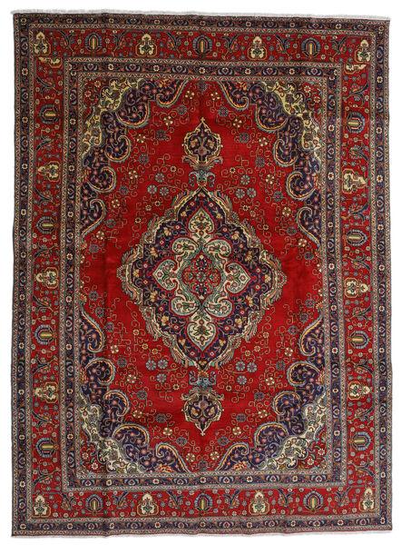 Tabriz Covor 300X408 Orientale Lucrat Manual Roșu-Închis/Gri Închis Mare (Lână, Persia/Iran)