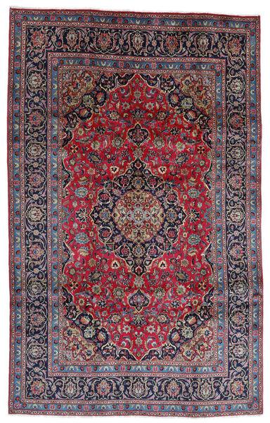 Mashhad Covor 196X314 Orientale Lucrat Manual Gri Închis/Mov Închis (Lână, Persia/Iran)