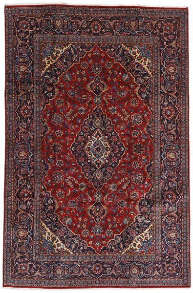 Mashhad Covor 196X298 Orientale Lucrat Manual Roșu-Închis/Maro Închis (Lână, Persia/Iran)
