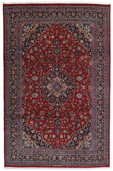 Mashhad Covor 198X309 Orientale Lucrat Manual Roșu-Închis/Maro Închis (Lână, Persia/Iran)