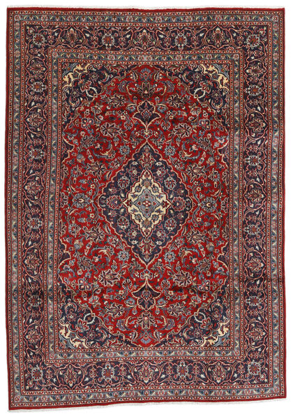 Mashhad Covor 194X274 Orientale Lucrat Manual Roșu-Închis/Gri Închis (Lână, Persia/Iran)