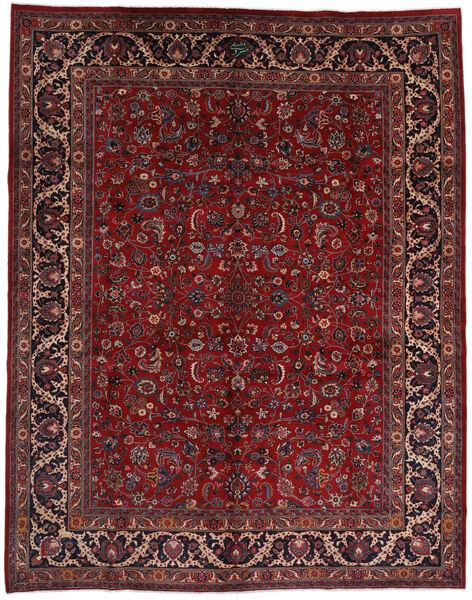 Mashhad Covor 292X373 Orientale Lucrat Manual Roșu-Închis/Negru Mare (Lână, Persia/Iran)