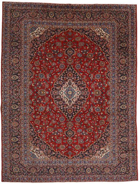 Kashan Covor 292X384 Orientale Lucrat Manual Roșu-Închis/Negru Mare (Lână, Persia/Iran)