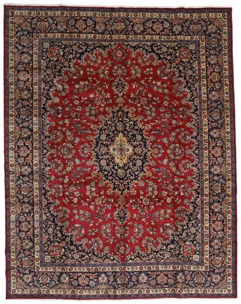 Mashhad Covor 298X375 Orientale Lucrat Manual Roșu-Închis/Maro Mare (Lână, Persia/Iran)