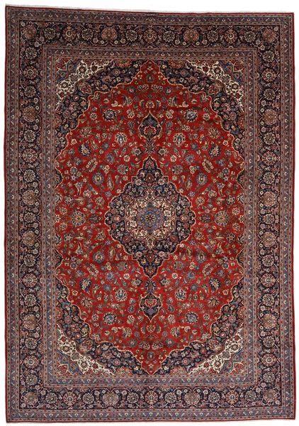 Kashan Covor 303X403 Orientale Lucrat Manual Roșu-Închis Mare (Lână, Persia/Iran)