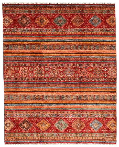 Shabargan Covor 249X310 Modern Lucrat Manual Roșu-Închis/Ruginiu (Lână, Afganistan)