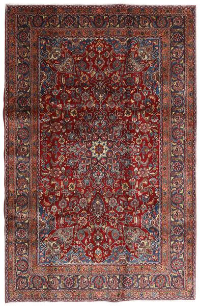 Mashhad Covor 198X301 Orientale Lucrat Manual Roșu-Închis/Gri Închis (Lână, Persia/Iran)