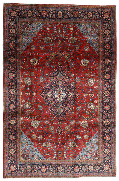 Mahal Covor 198X302 Orientale Lucrat Manual Roșu-Închis/Maro Închis (Lână, Persia/Iran)