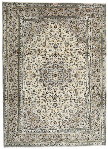 Kashan Covor 259X358 Orientale Lucrat Manual Gri Deschis/Gri Închis Mare (Lână, Persia/Iran)