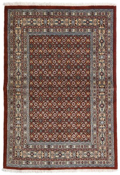 Moud Covor 97X141 Orientale Lucrat Manual Maro Închis/Gri Închis (Lână/Mătase, Persia/Iran)