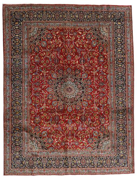 Mashhad Covor 297X383 Orientale Lucrat Manual Roșu-Închis/Gri Închis Mare (Lână, Persia/Iran)