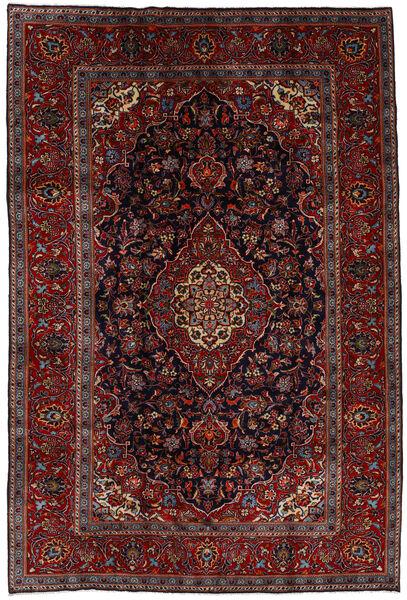 Kashan Covor 204X303 Orientale Lucrat Manual Roșu-Închis/Maro Închis (Lână, Persia/Iran)