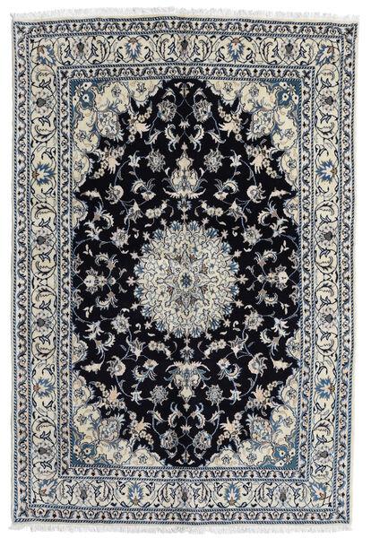 Nain Covor 166X248 Orientale Lucrat Manual Gri Închis/Negru (Lână, Persia/Iran)