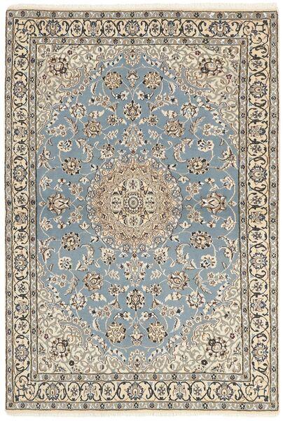 Nain 9La Covor 115X175 Orientale Lucrat Manual Gri Deschis/Bej (Lână/Mătase, Persia/Iran)