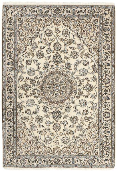 Nain 9La Covor 120X177 Orientale Lucrat Manual Gri Deschis/Bej (Lână/Mătase, Persia/Iran)